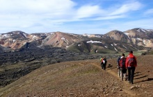 Hiking with volcanoes and rhyolite mountains
